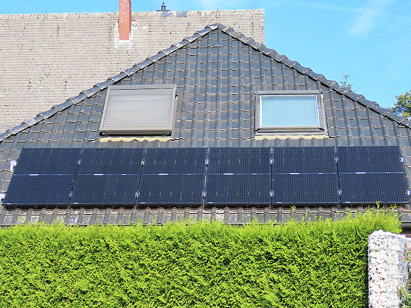 Photovoltaik in der Praxis - Südseite 1,98 kWp, am 29.09.2020 um 12Uhr