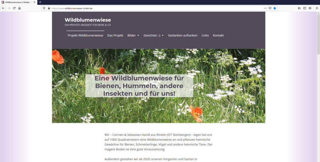 Natur, Umwelt, Klima - Unser Beitrag besitzt eine eigene Internetseite.